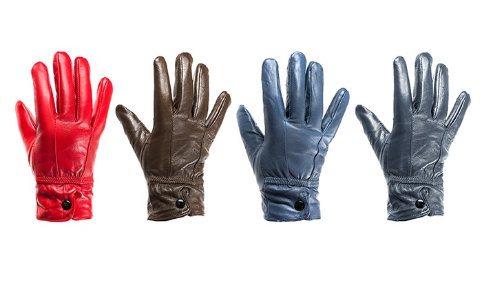 Groupon Goods: Ladies Leather Gloves with Decorative Stitching (Shipping Included)