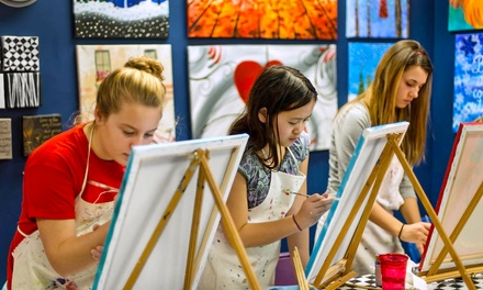 Painting Class for Two or Four at A Stroke of Art (Up to 51% Off)