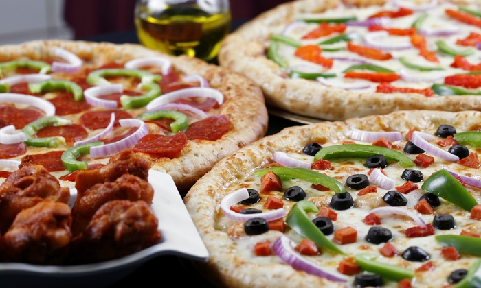 The Infield Pizzeria & Sports Bar - Lakeside: Pizzeria Eats at The Infield Pizzeria & Sports Bar (Up to 50% Off).