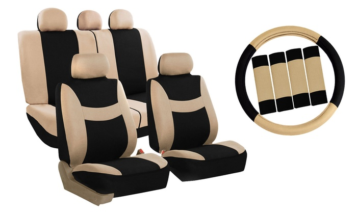 Light And Breezy Car Seat Cover Combo Set (14 Piece) | Groupon
