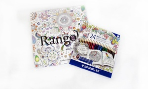 Rangoli Colouring Book + Pencils