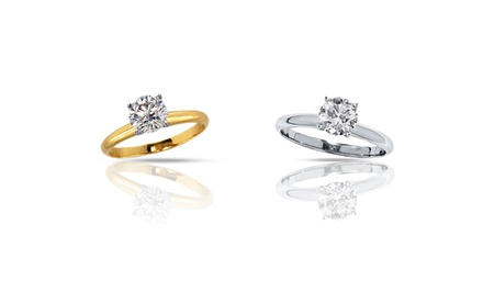 2.00 CTW Certified Diamond Solitaire Rings in 14K Gold