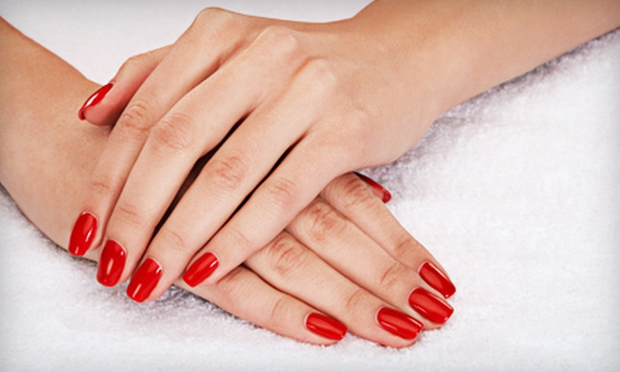 Expressions in Hair - Fairfield: One or Three Shellac Manicures at Expressions in Hair (Up to 57% Off)