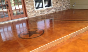 DFW Rustic Concrete Staining: Staining and Designs at DFW Rustic Concrete Staining (Up to 67% Off). Four Options Available.