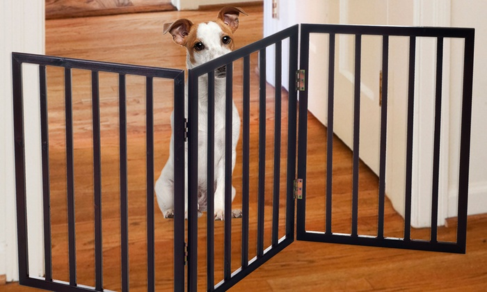 Free Standing Folding Pet Gate Groupon Goods