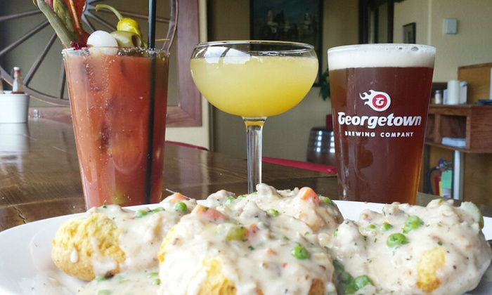 Cask & Trotter - South-Lake Union: Homemade Biscuits and Gravy Brunch for Two or $18 for $25 Worth of American Cuisine at Cask & Trotter