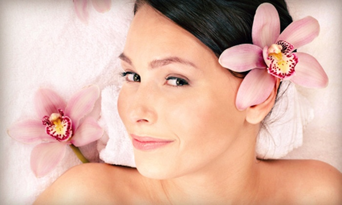 Serenity Salon & Spa - Brookdale: Spa Package with Blowout, Massage, Eyebrow Sculpting, and Optional Body Wrap at Serenity Salon & Spa (Up to 61% Off)