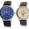 Lucien Piccard Moubra Men's Leather-Band Watch