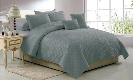 5-Piece Solid Quilt Set. Multiple Options from $29.99–$34.99.