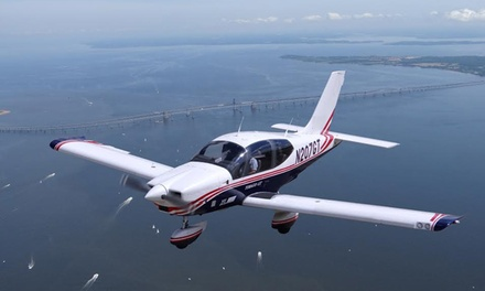 $299 for Private One-Hour Harbor and Bay Flight Tour for Two at 1World Aero LLC ($499.99 Value)