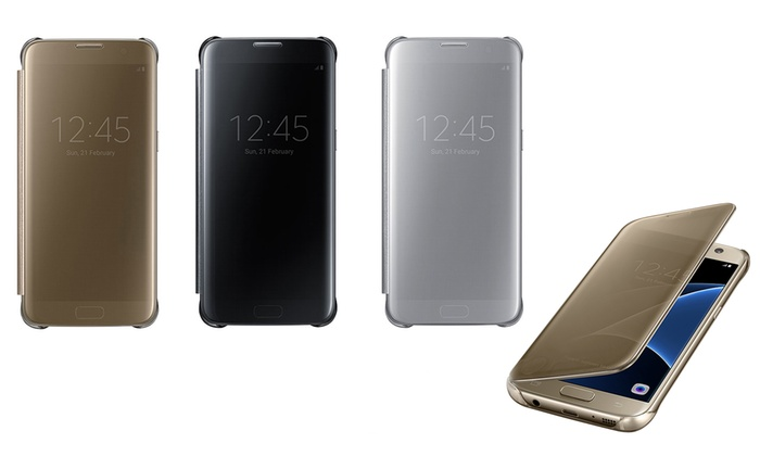 promo code 5a483 a8111 Galaxy S7 edge S-View Cover | Groupon Goods