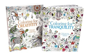 coloring for creativity and coloring for tranquility adult coloring book bundle