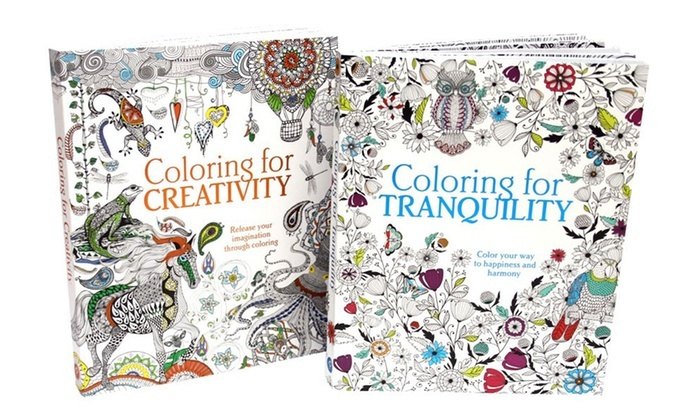 coloring for creativity and coloring for tranquility adult coloring book bundle coloring for creativity and - Color Books For Adults