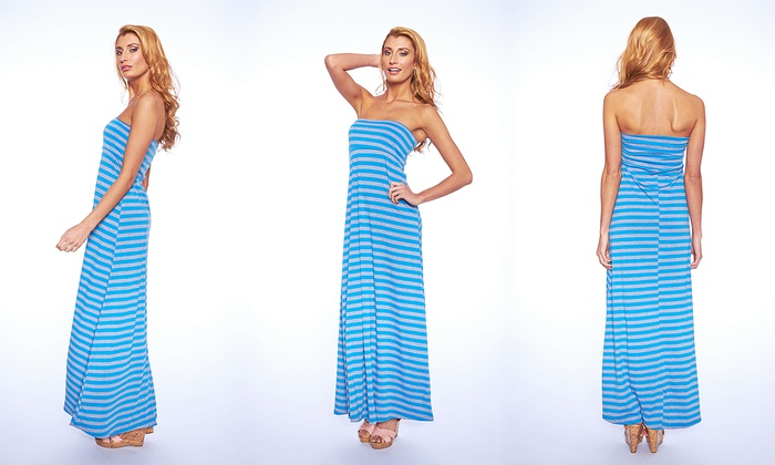 Women S Empire Waist Maxi Dress Groupon Goods