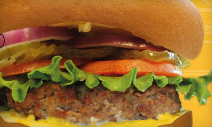 Burger 101 - Multiple Locations: Burgers and American Food at Burger 101 (Half Off). Two Options Available.