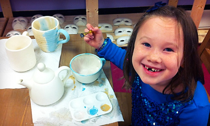 Art Smart Academy - Northwest Columbia: Pottery- or Clay-Painting Party for Up to Eight or $15 for $30 Worth of Paint-Your-Own Pottery at Art Smart Academy