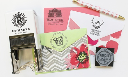 Engraved Wood Stamp, Self-Inking Rubber Stamp, or a Premium Stamp Kit from RubberStamps.com (Up to 60% Off)