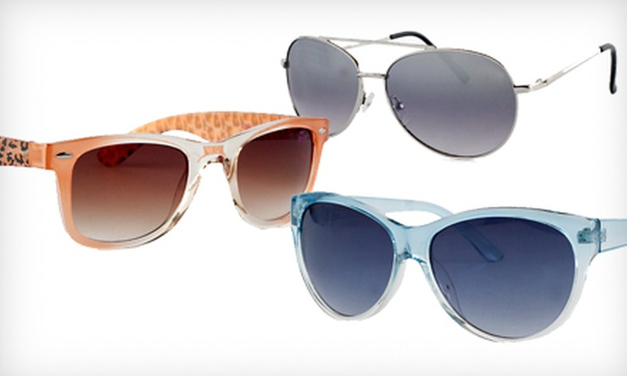 Betsey Johnson Sunglasses: Pair of Betsey Johnson Sunglasses (Up to 68% Off). 30 Options Available.