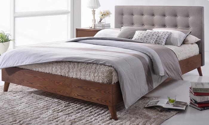 anda midcentury platform bed - Upholstered Platform Bed