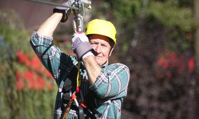 Kersey Valley Zip Line - Archdale: $44 for a 10-Leg Zipline Tour at Kersey Valley Zip Line ($89 Value)
