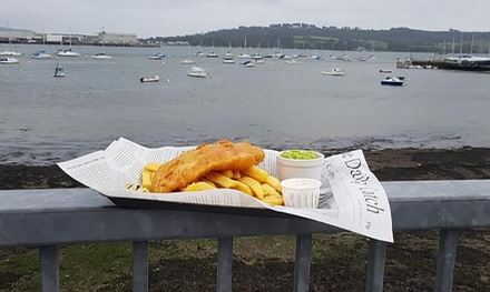 Fish and Chips with Wine for Up to Four at The Old Rowing Club