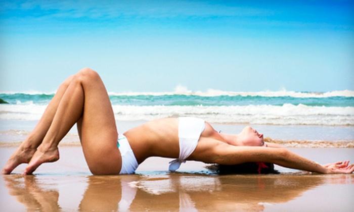 South Beach Tans and Spa - Warwick Estates: Bikini or Brazilian Sugaring, Two Spray Tans, or On the Glow Facial at South Beach Tans and Spa (Up to 54% Off)