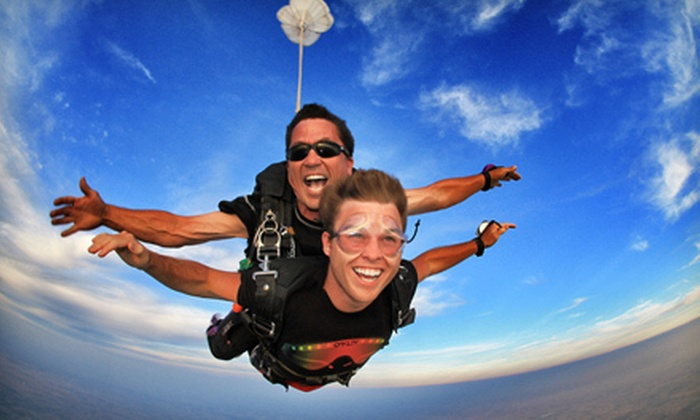 Chicagoland Skydiving Center - Rochelle: Tandem Jump or $50 for $100 worth of Sky Bucks at Chicagoland Skydiving Center