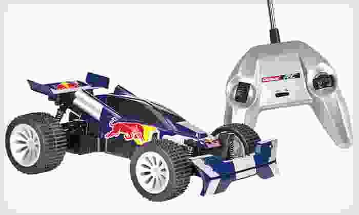 Red Bull R/C Car: $59 for a Red Bull Buggy, Groupon Goods–Exclusive RC Car ($99.99 List Price). Free Shipping.