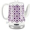 Bella Ikat Purple Ceramic Kettle