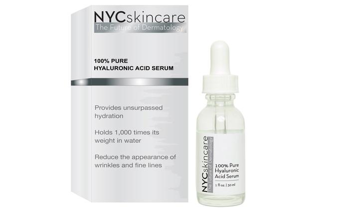 NYCskincare 100% Hyaluronic-Acid Serum (1 Fl. Oz.)
