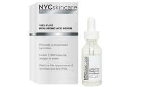 NYCskincare 100% Hyaluronic-Acid Serum at NYCskincare 100% Hyaluronic-Acid Serum, plus 9.0% Cash Back from Ebates.