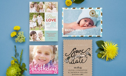 Custom Cards, Invitations, and Announcements from SimplytoImpress (Up to 55% Off). Two Options Available.