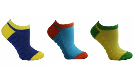 Minx Performance Women's Reversible Terry Footie Socks in Assorted Colors (9-Pack)