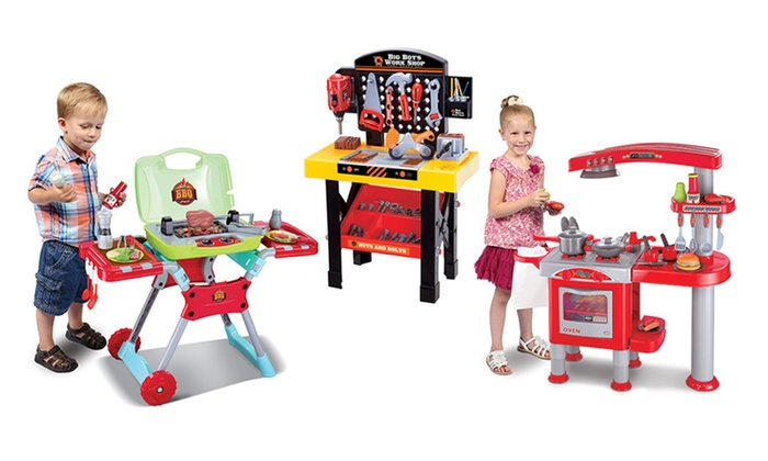 World Tech Toys Tool Bbq Grill Or Kitchen Play Set Groupon