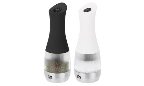 Kalorik Contempo Stainless Steel Electric Salt and Pepper Grinders Set 1424398e-34f1-11e7-ad7a-002590604002