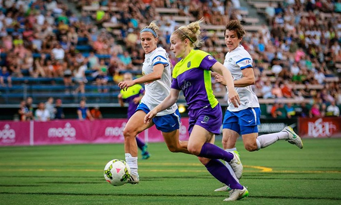 Seattle Reign FC vs. Sky Blue FC - Memorial Stadium: $12 for a Seattle Reign FC Soccer Match on Saturday, August 29, at 7 p.m. ($25 Value)