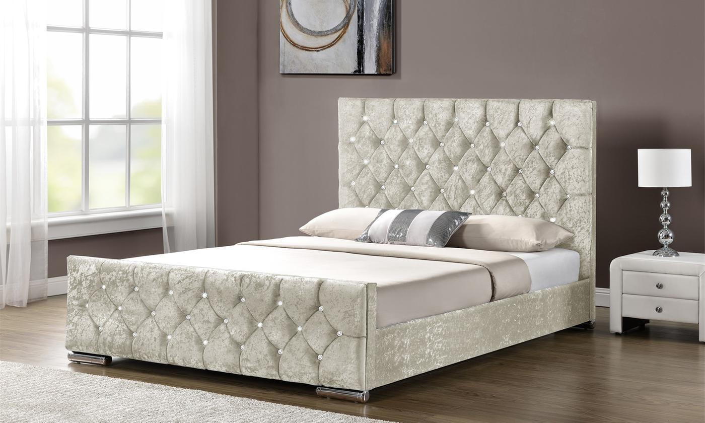chenille-or-velvet-ottoman-bed