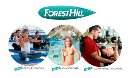 Un an d'accès aux activités des 7 clubs Forest Hill dont lAquaboulevard dès 468 €
