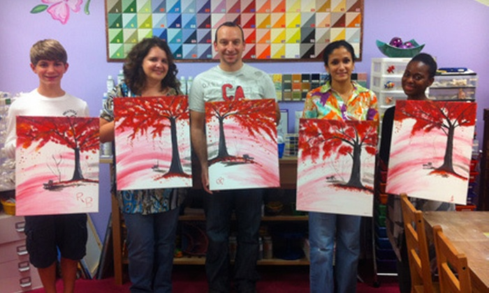 Art Smart Academy - Northwest Columbia: One Paint-A-Long Class for One or Two Adults, or Four Classes for One Adult at Art Smart Academy (Up to 57% Off)
