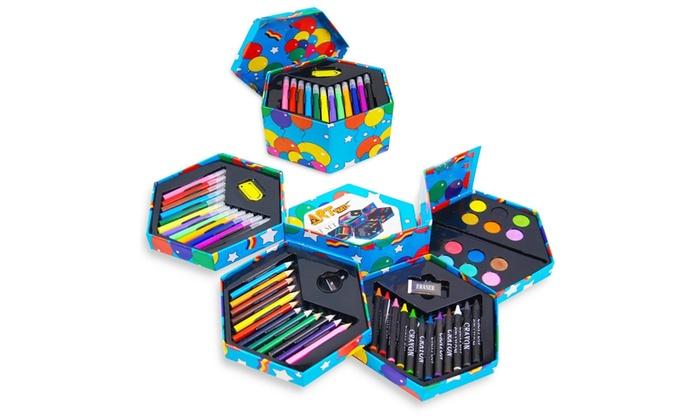 Kit De 52 Pieces De Coloriage Pour Enfants Craft Art Artists Hexagonal