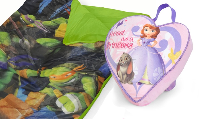 Disney and Nickelodeon On-The-Go Pillow-and-Mat-Nap Bag Sets: Disney and Nickelodeon On-The-Go Pillow-and-Mat-Nap Bag Sets. Multiple Styles Available. Free Returns.