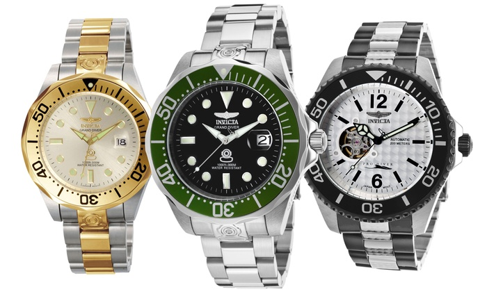 10 invicta pro diver watch groupon goods 10 invicta men s pro diver automatic watch collection 10 invicta men s pro diver