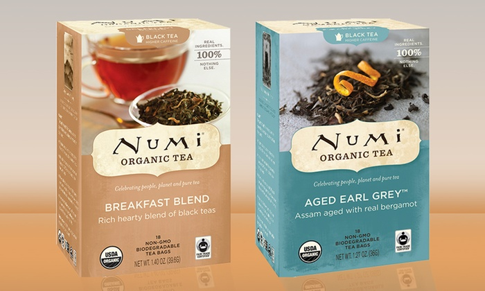 Numi Organic Tea Three-Pack: Numi Organic Tea Three-Pack (54 Tea Bags). Multiple Varieties Available.