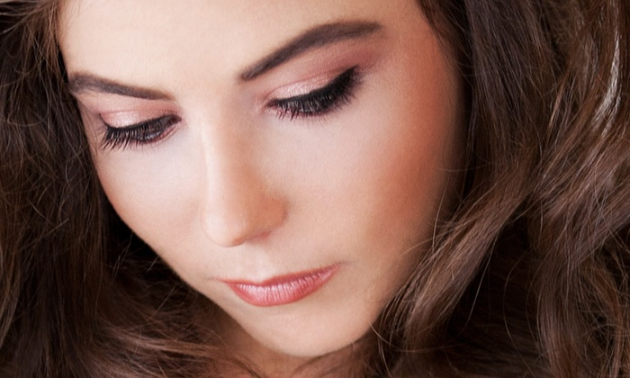 The Lavish  Bar - River Crossing: Facial and Choice of Makeup Application or Eyelash Extensions, with Optional Blowout at The Lavish Bar (Up to 68% Off)