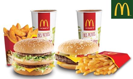 Pour 2€, 2 menus Maxi Best Of™ au choix à 9,90€ dans l'un des6 McDonalds™ participants