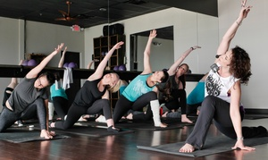 {r}elevé one fitness and dance studios: Barre, Yoga, or Yoga Fusion Classes at {r}elevé one fitness and dance studios (Up to 64% Off)