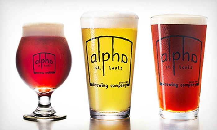 Alpha Brewing Company - Downtown St. Louis: Beer-Flight Tastings for Two or Beer Tastings for Four at Alpha Brewing Company (50% Off)