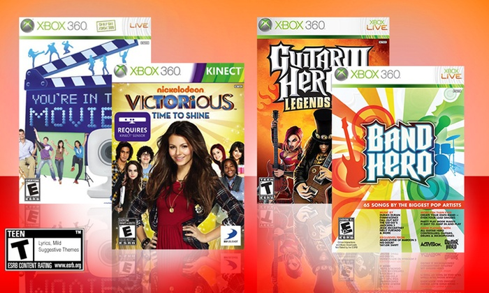 $19 99 for a 4-Game Movies & Music Bundle for Xbox 360 ($99 96 List Price)   Free Shipping and Returns