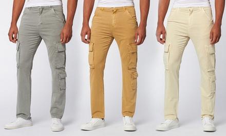 JNCO Men's Slouchy Twill Cargo Pants
