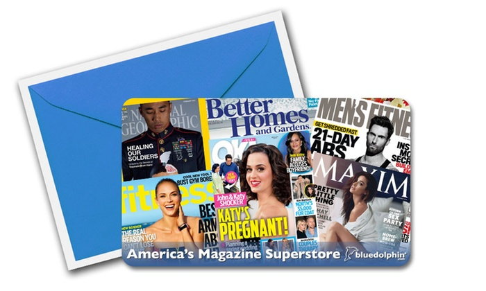 Blue Dolphin Magazines: $5 for $10 or $12 for $25 Worth of Magazine Subscriptions from Blue Dolphin Magazines